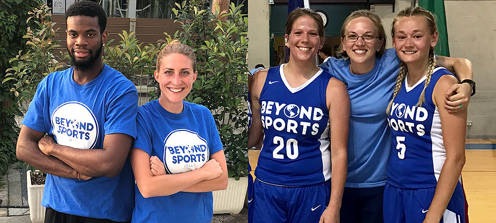 Gallaudet student-athletes and coaches in Italy during this summer's Beyond Sports Tour in 2018