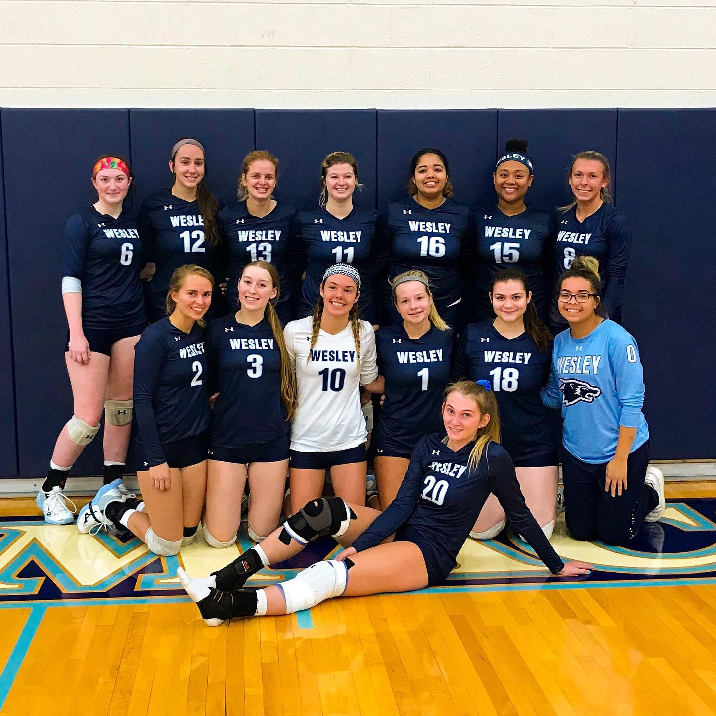 Wesley Volleyball Clinches 3-0 Win Over Immaculata