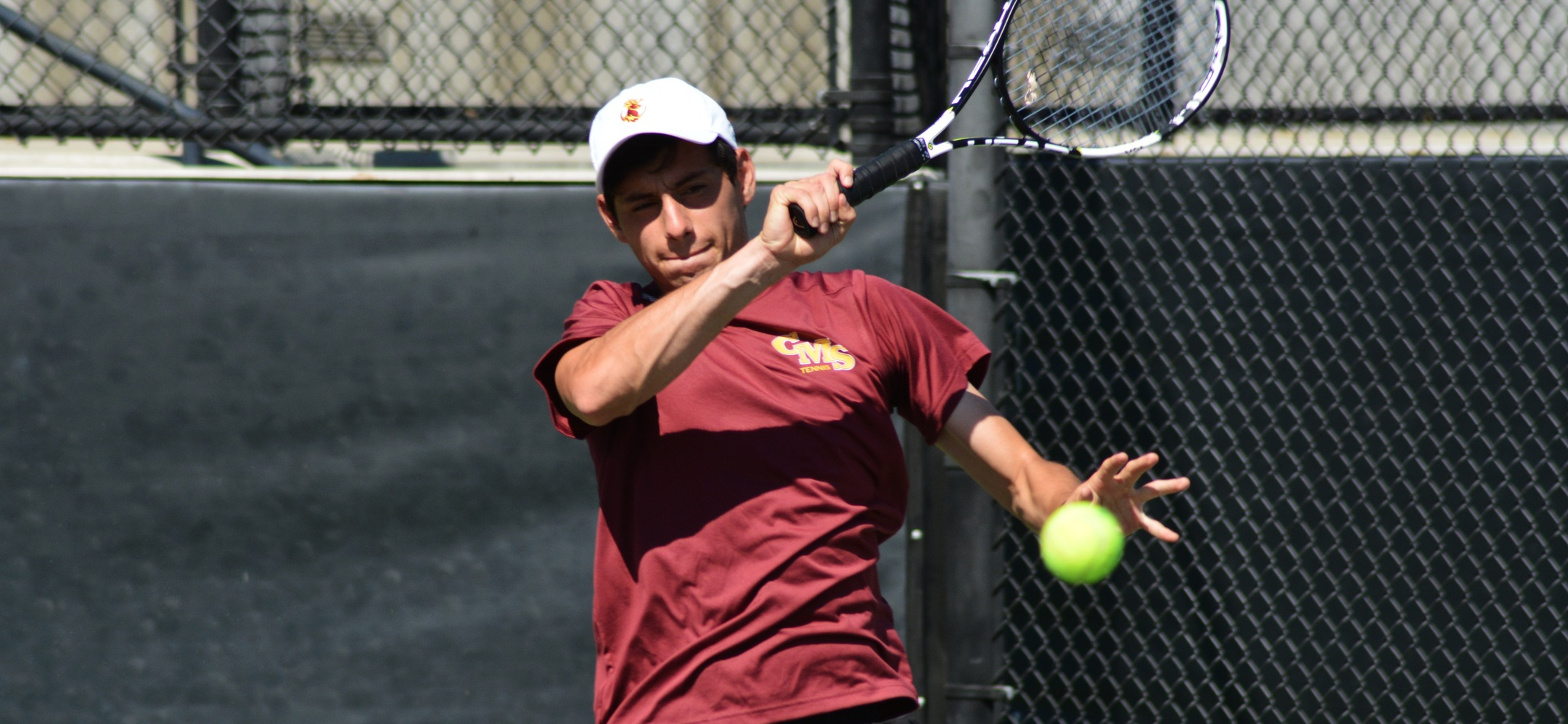 Senior Freddie Simental (CMC) won three matches on Saturday in CMS' shutouts of Occidental and Marymount California