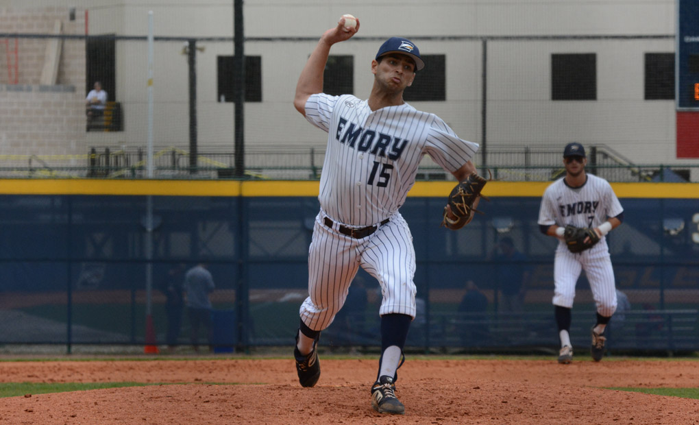 Emory Bats Stymied by No.-16 WashU in Series Opener