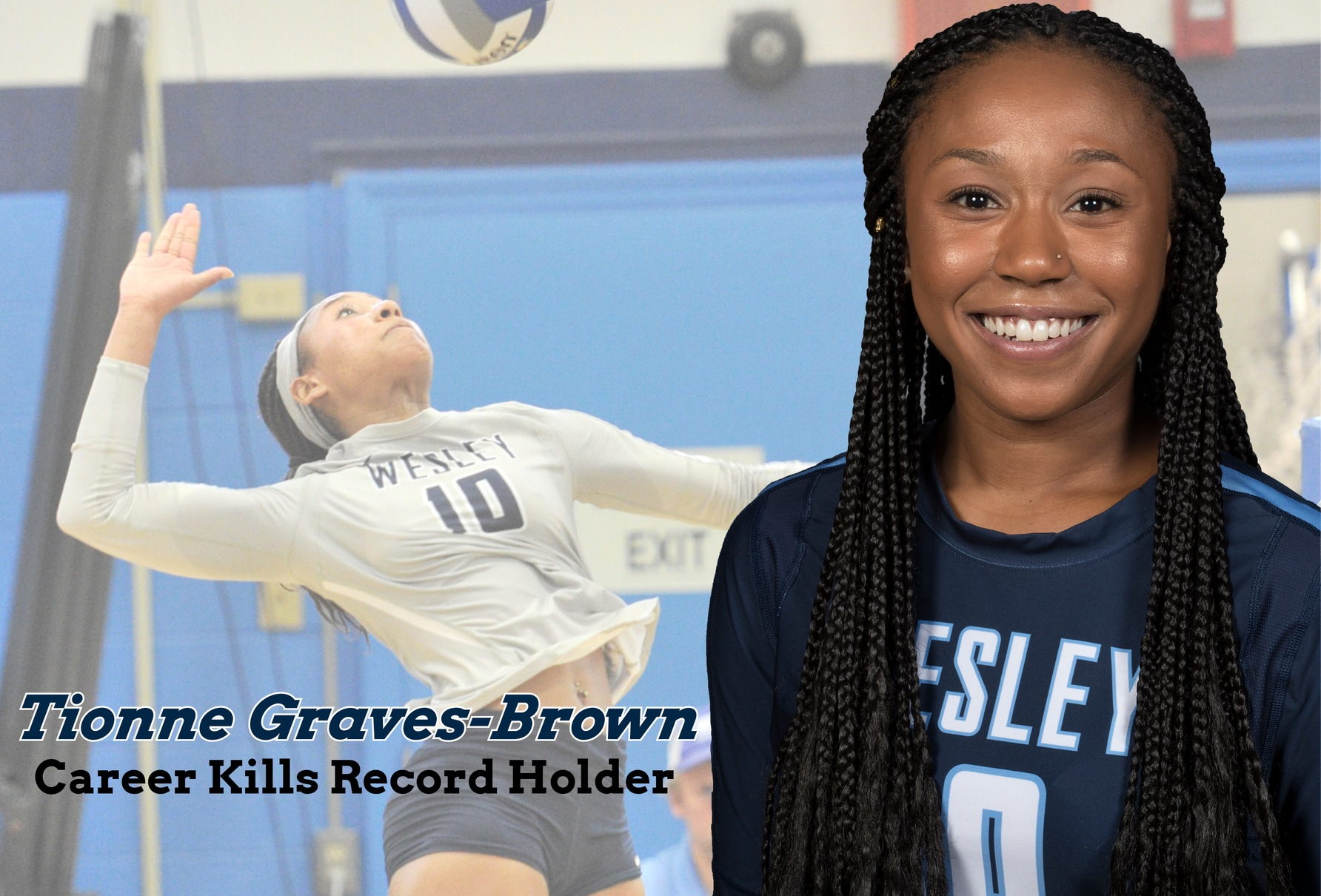 Graves-Brown sets kills record in sweep over Albright, Pitt-Greensburg