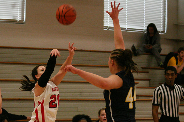 Morgan McDonald had one of the Panthers' two 3-pointers in Sunday's win at N.C. Wesleyan
