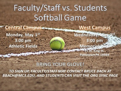 Faculty/Staff vs. Student Softball game