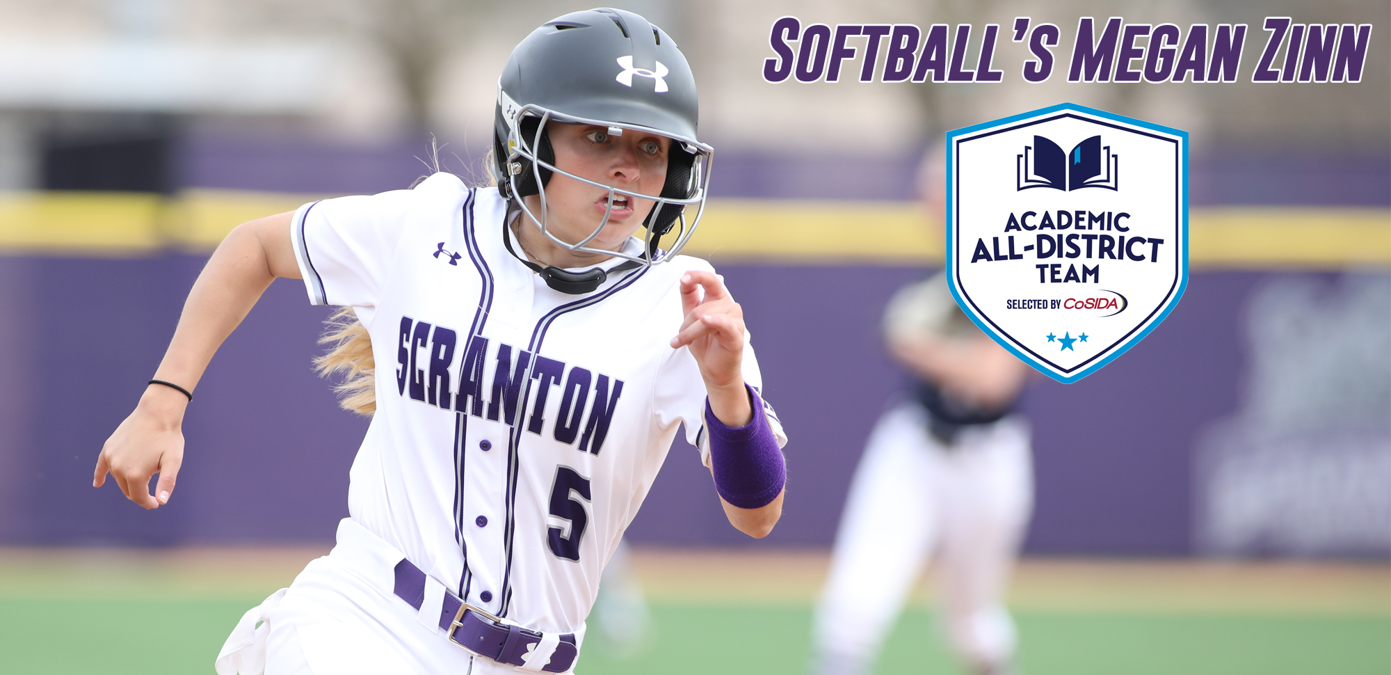 Senior Megan Zinn of the softball team was named to the CoSIDA Academic All-District Team for the third straight season on Thursday.