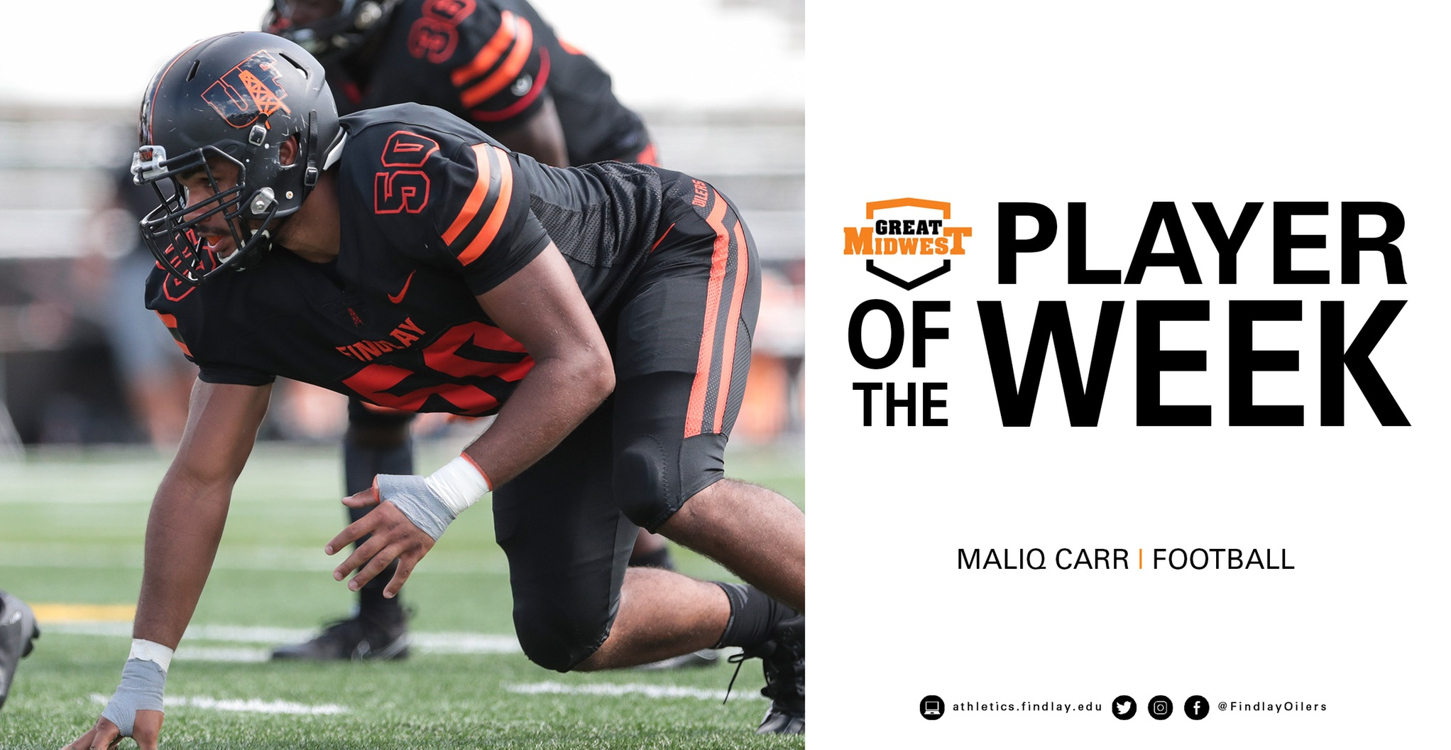 Maliq Carr Earns Special Teams Player of the Week