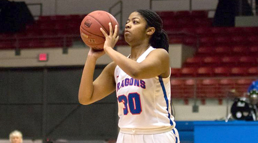 Kayla Barber and the Blue Dragon Women's Basketball team travels to Dodge City on Monday. (Allie Schweizer/Blue Dragon Sports Information)