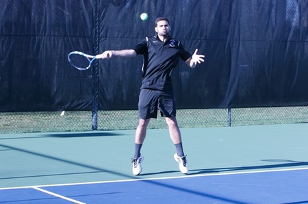 Men's tennis team uses hearty collective effort to power its way into HVIAC championship by defeating Pratt Institute, 6-3 in semifinal round