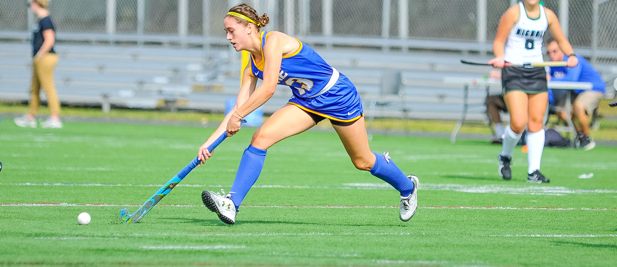 Sophomore Jacqueline Clark recorded one goal and one assist in Western New England's 3-1 win at Gordon on Saturday (Photo by Bill Sharon/Spartan Sportshots).