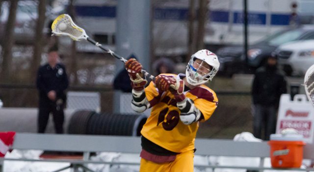 REGIS FALLS TO BARD, 8-7 IN THIRD OVERTIME