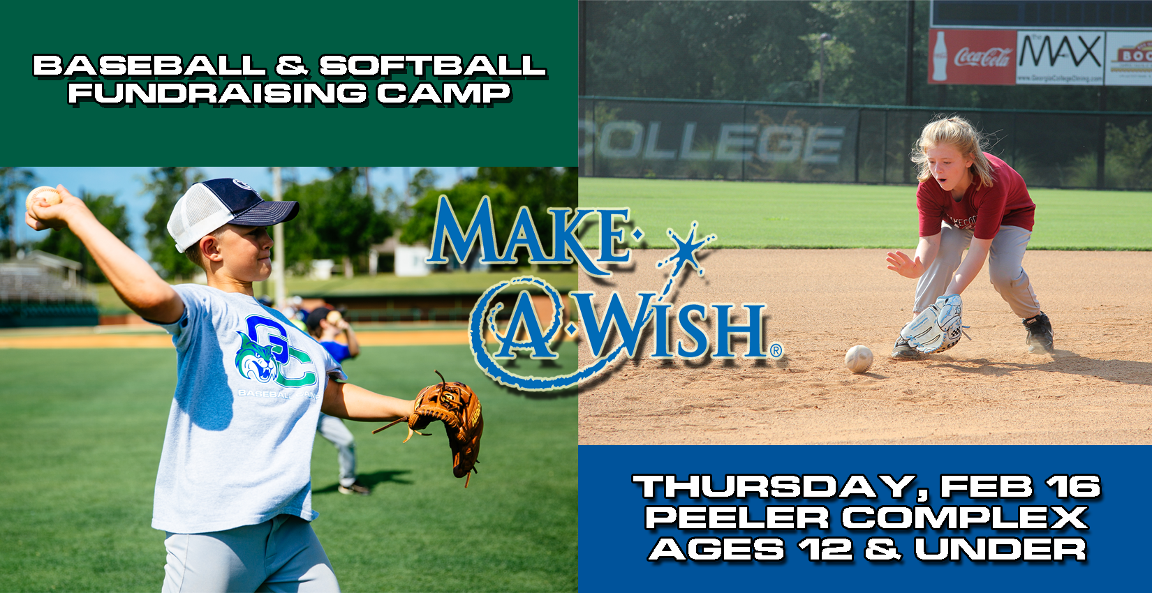 GC Softball and Baseball host clinic for Make-A-Wish Feb. 16