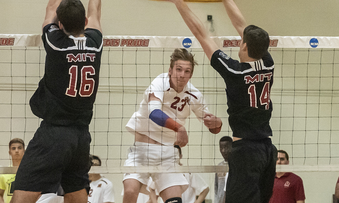 Regis Men's Volleyball Battles Top-Ranked Springfield to Finish
