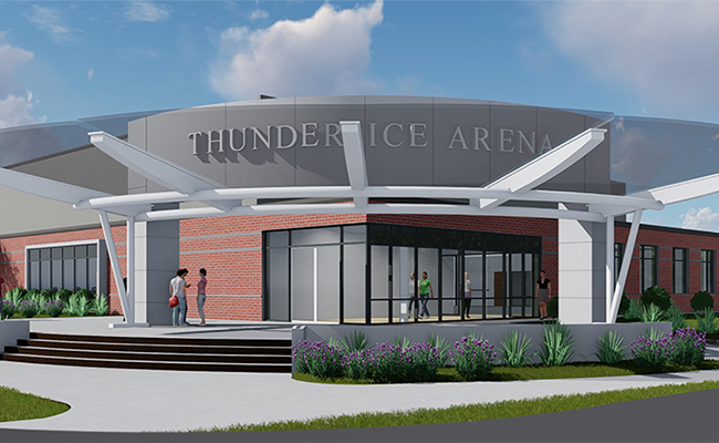 View Thunder Ice Arena Construction Webcam