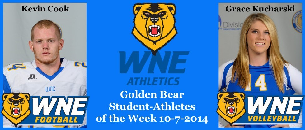 Kevin Cook, Grace Kucharski Latest Pair to be Chosen WNE Student-Athletes of the Week