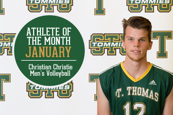 Athlete of the Month for January: Christian Christie, Men's Volleyball