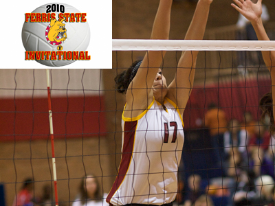 Aly Brecht's seven kills and digs apiece help Ferris State to a season-opening 3-1 start.