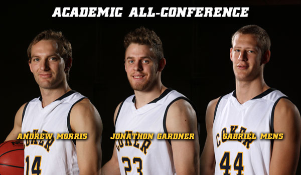 Men's Basketball Trio Earns Academic All-Conference Selection