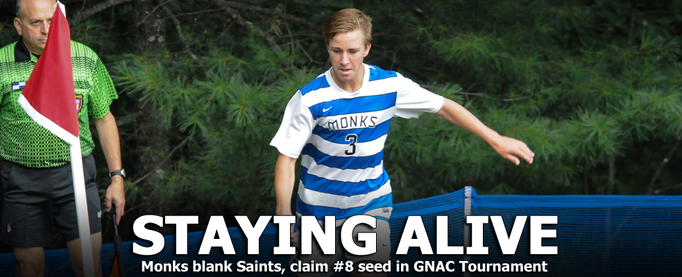 Monks Earn GNAC Tourney Berth with 2-0 Victory over Emmanuel