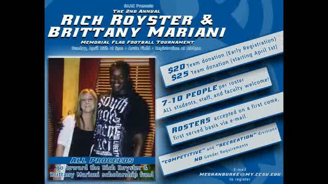 Flag Football Fundraiser to Honor Royster and Mariani