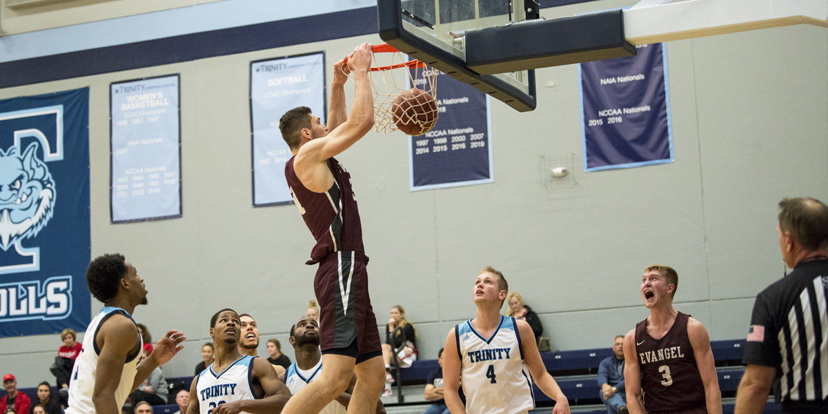 Last Second Comeback Falls Just Short for Evangel Men's Basketball at Trinity Christian, 88-85