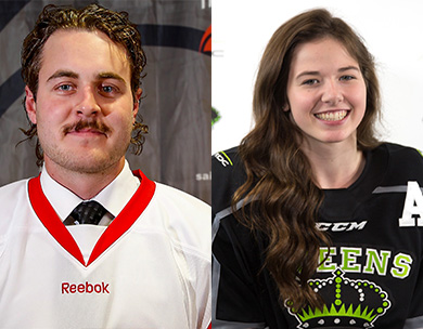 Dean Allison of SAIT and Catherine Longchamps of RDC Named 2018-19 Hockey Top Scholastic Achievers