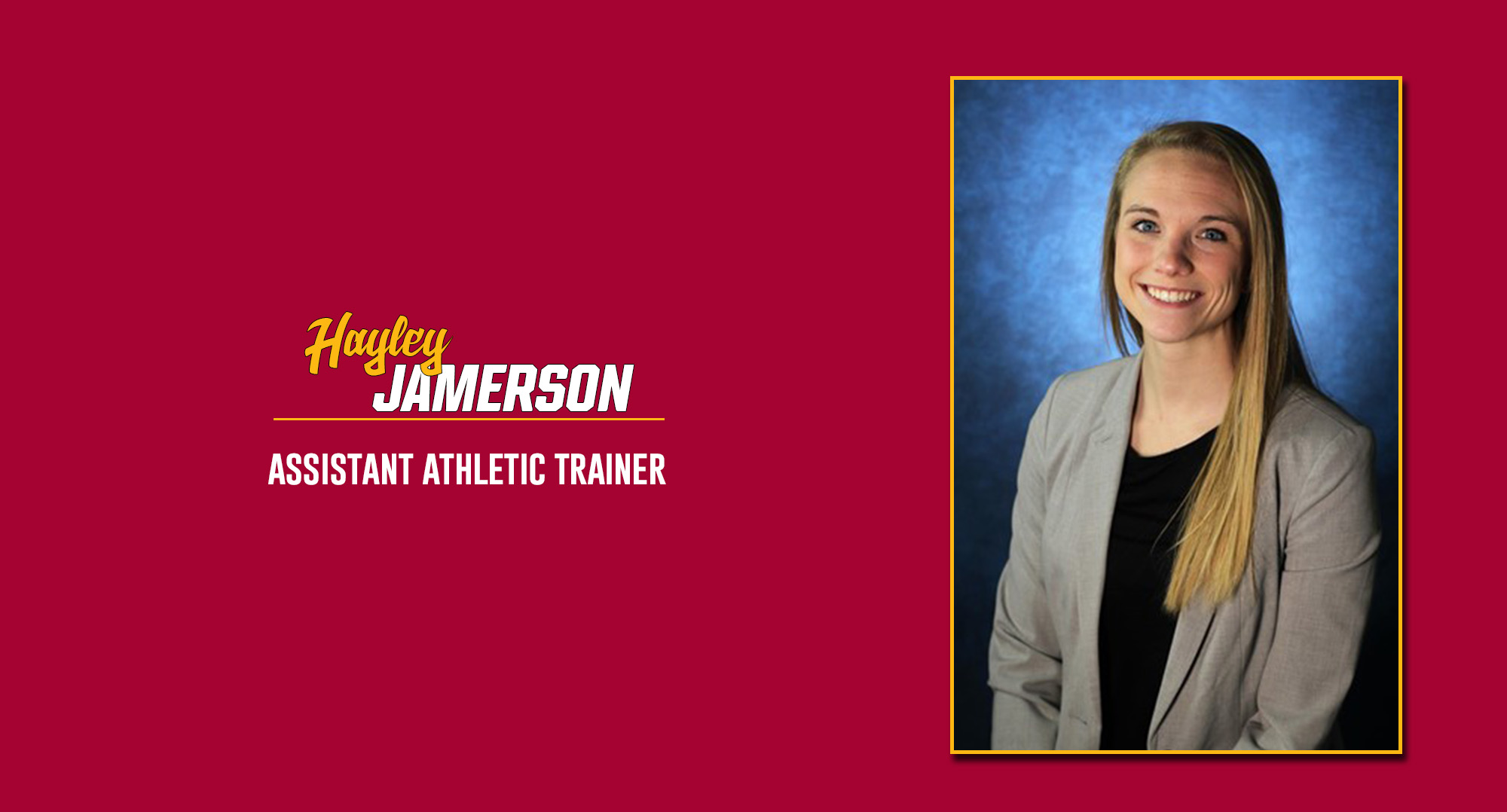 Jamerson Named Assistant Athletic Trainer