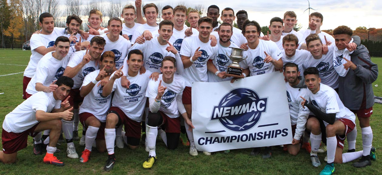 Men's Soccer Claims 2016 NEWMAC Championship With 3-1 Victory Over Wheaton