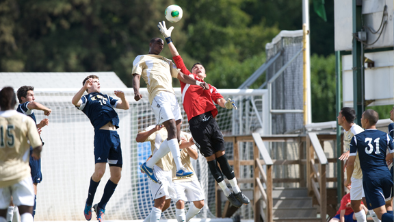 CAUSEWAY CUP POINTS ON THE LINE AS MEN'S SOCCER VISITS UC DAVIS SATURDAY