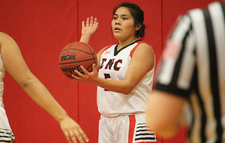 Nacona's Triple-Double Lifts Women's Basketball to Win Over Lesley