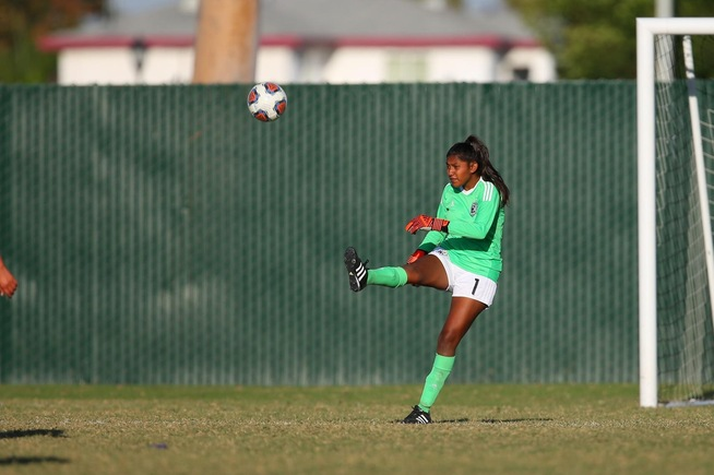 File Photo: Deisy Rodriguez made two saves in the Falcons shutout win