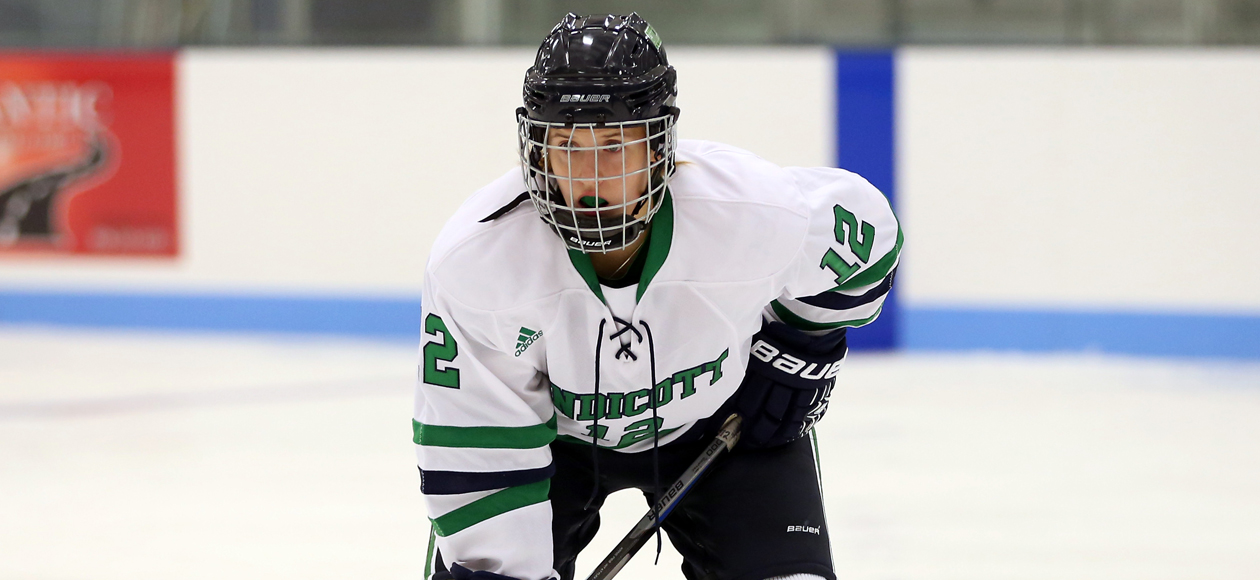 Jonsson's Penalty Shot Goal Keeps Endicott Unbeaten; Gulls Top Becker 2-0