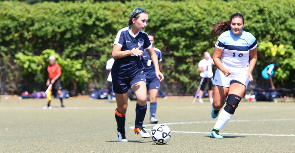 Caruso Scores on Direct Free Kick Highlighting Women's Soccer Debut Under Coach Lawson