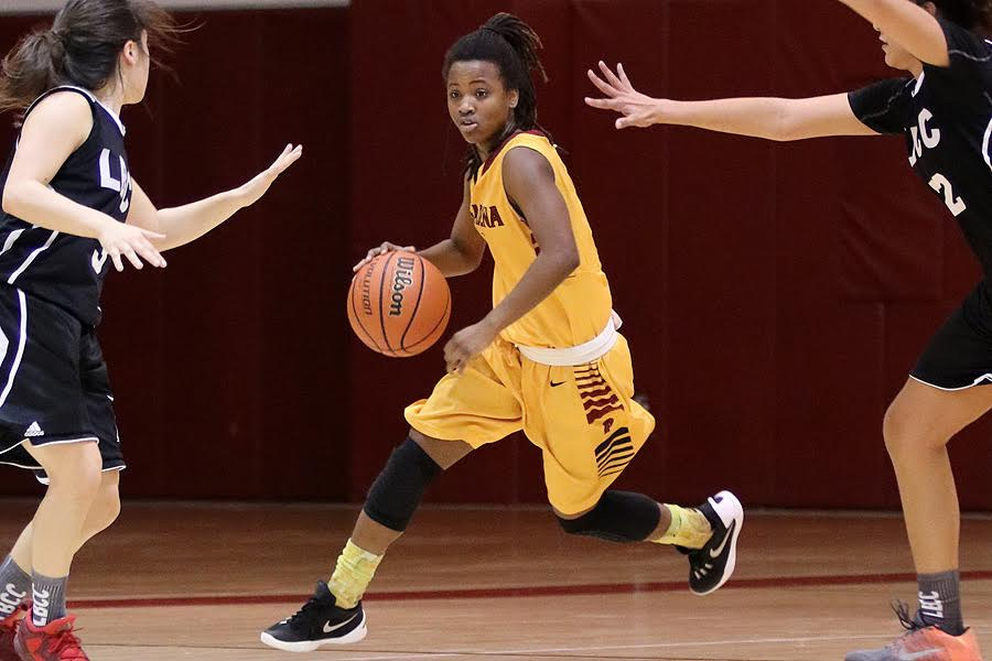Reserve point guard Samaiyah Abdullah helped PCC record its 15th win Wednesday night.