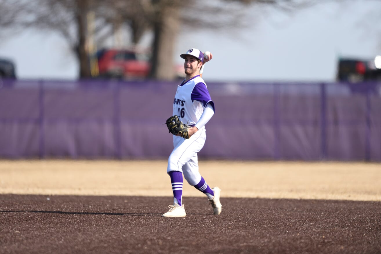 Purple Knights Fall To Adelphi In Non-Conference Baseball Action