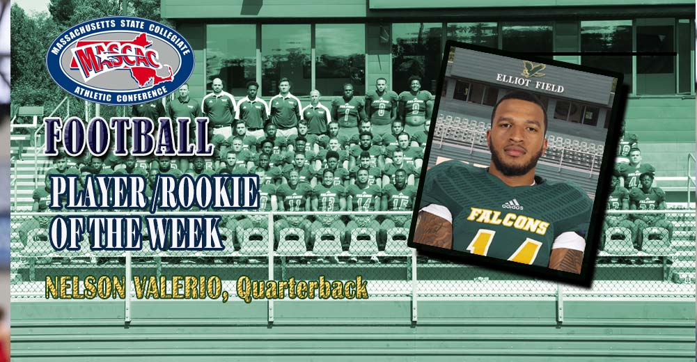 Valerio Named MASCAC Football Player and Rookie Of The Week