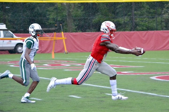 Cadet Wide Receiver Rakim Jarrett continues to shine in St. John's victory over Good Counsel.  (Picture from previous game)