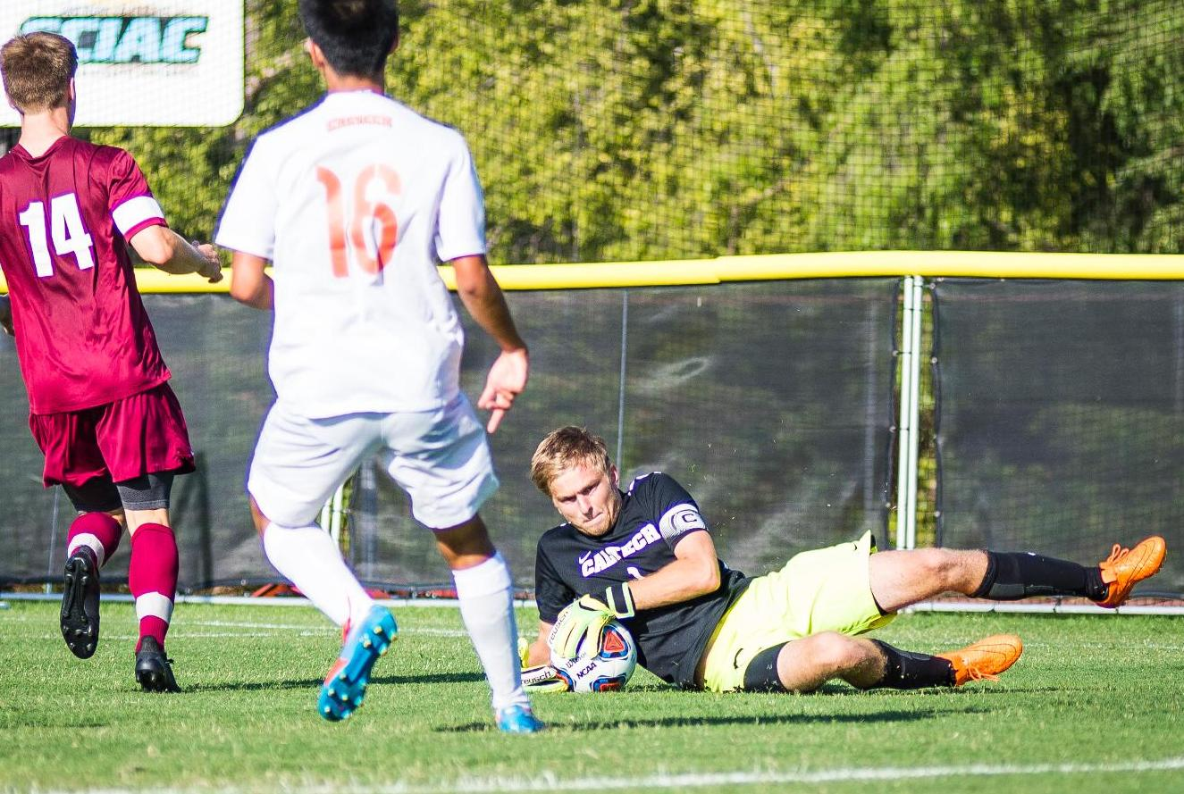 Feist Stops 12 Shots vs. No. 21 Redlands