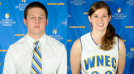 David Baldyga and Sarah Proper named Western New England College Athletes-of-the-Week
