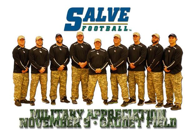 The Salve Regina football team will honor the military before, during and after its NEFC showdown with the United States Coast Guard.