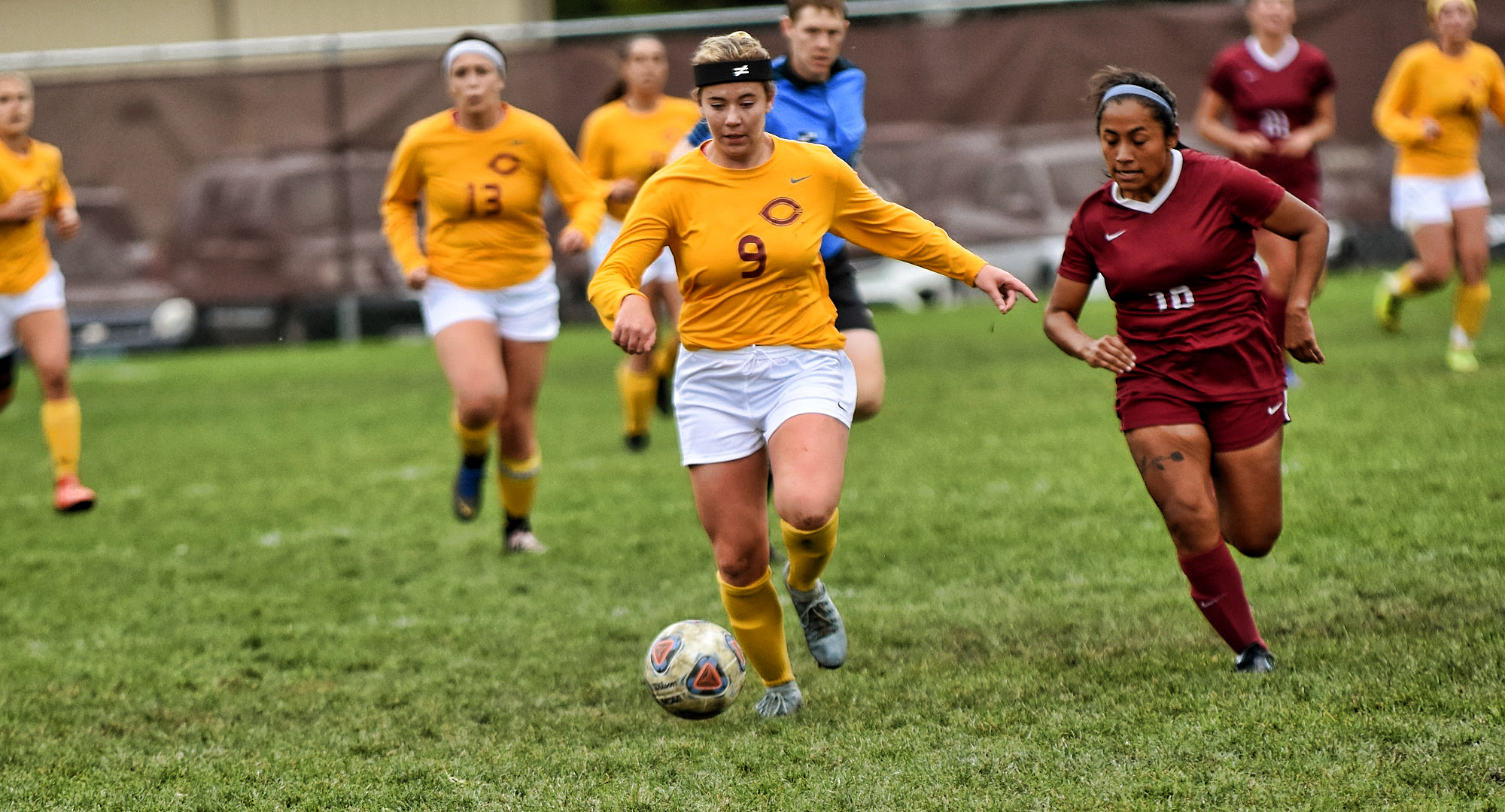 Freshman Grace Lawlor scored the game-winning goal in the Cobbers' win over Gustavus.