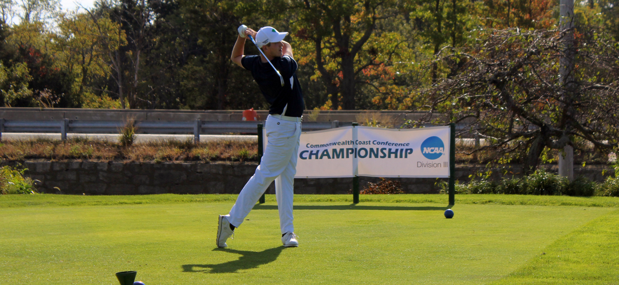 Image of Tyler Smith teeing off at the CCC Golf Championship Qualifier.