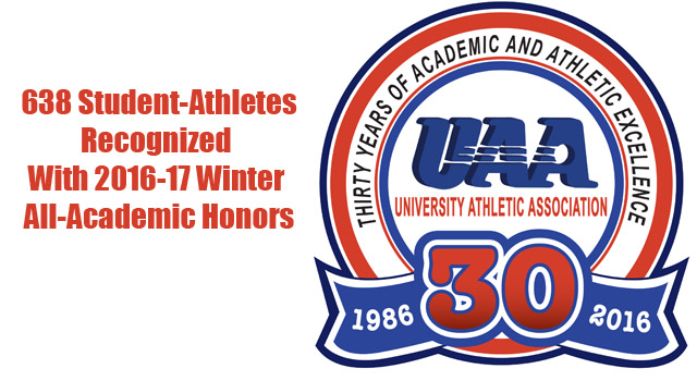 UAA Announces 2016-17 Winter All-Academic Honors