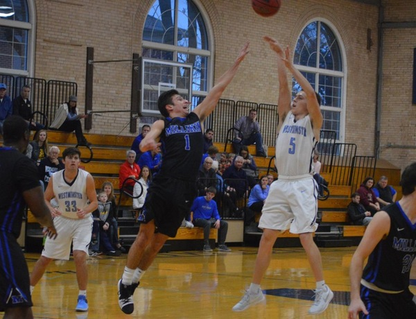 Four Hit Double Figures In Westminster Men's Basketball Win