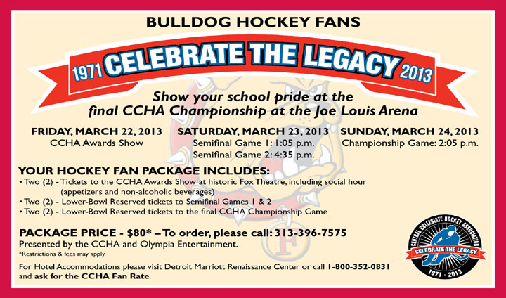CCHA Hockey Fan Package Announced For Final Championship Weekend In Detroit