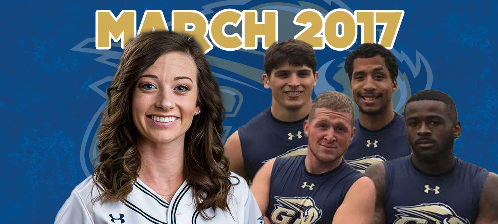 Thomas and Men's Sprint Medley Relay Team selected as March Bison of the Month presented by GIS