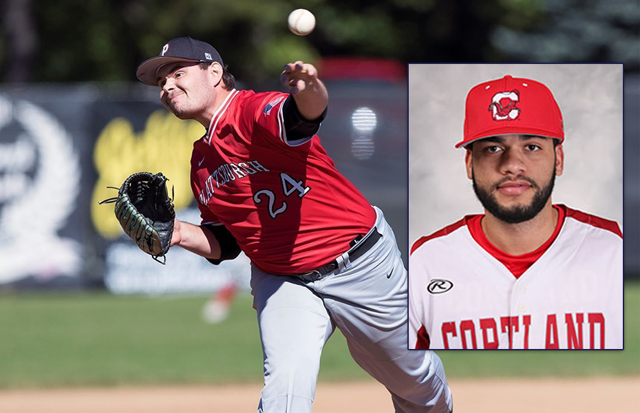 Cortland and Plattsburgh take home Baseball Athlete and Pitcher of the Week