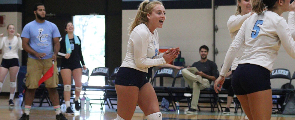 Women's Volleyball Sweeps Suffolk in GNAC Action