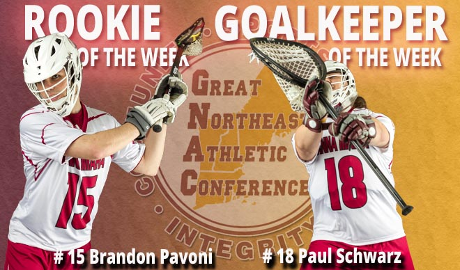 Pavoni and Schwarz Named GNAC Rookie and Goalkeeper of the Week