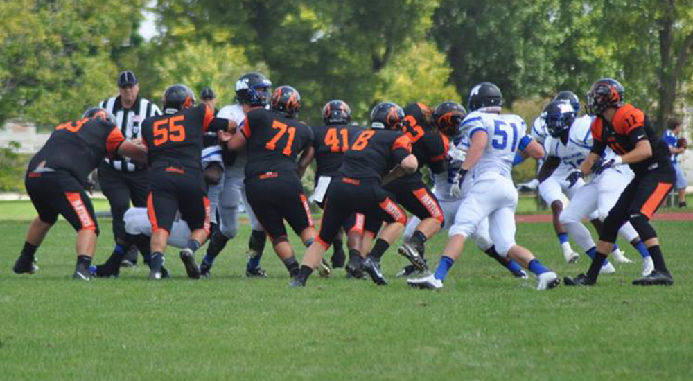 Football defeats Crown in UMAC action