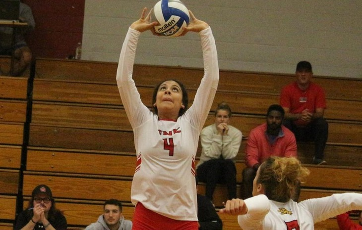 Ruth Aguilar Named NECC Women's Volleyball Player & Rookie of the Week