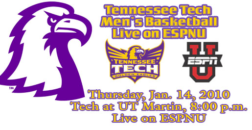 Tennessee Tech men's basketball to be televised nationally on ESPNU